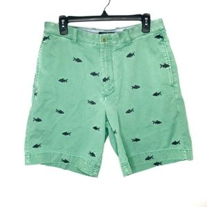 J. Crew Embroidered Fish Shorts